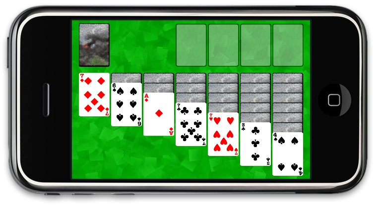 iPhone Solitare game